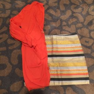 J.  CREW OUTFIT BUNDLE SKIRT AND CARDIGAN